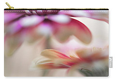Carry-all Pouch featuring the photograph Two Souls 1. Macro Gerbera by Jenny Rainbow