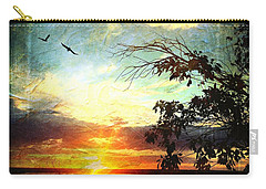 Two Souls Flying Off Into The Sunset  Carry-all Pouch