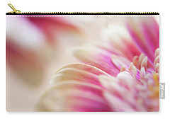 Carry-all Pouch featuring the photograph Two Souls. Macro Gerbera by Jenny Rainbow