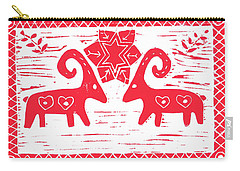 Two Swedish Yule Goats Carry-all Pouch