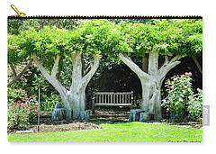 Two Tall Trees, Paradise, Romantic Spot Carry-all Pouch by Gandz Photography