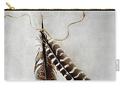 Two Tattered Turkey Feathers Carry-all Pouch