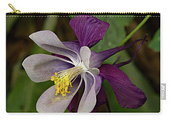 Carry-all Pouch featuring the photograph Two Toned Columbine by Jean Noren