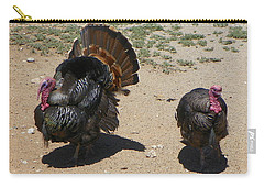 Two Turkeys Carry-all Pouch by Joseph Frank Baraba