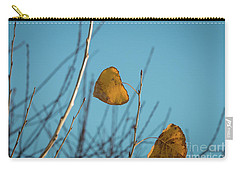 Carry-all Pouch featuring the photograph Two Warriors  by Ana V Ramirez