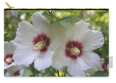 Two White Hibscus  Carry-all Pouch