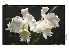 Two White Orchids Carry-all Pouch