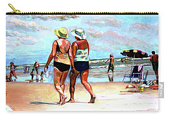 Two Women Walking On The Beach Carry-all Pouch