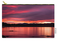 Twofold Bay Sunset Carry-all Pouch by Racheal  Christian