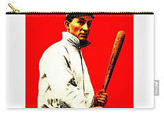 Carry-all Pouch featuring the painting Ty Cobb 1914 Baseball Card by Peter Gumaer Ogden