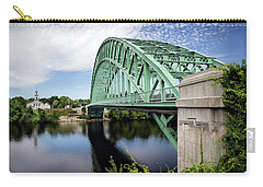 Tyngboro Bridge, First Parish Meeting House Carry-all Pouch by Betty Denise