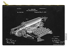 Type Writing Machine Patent From 1896  - Black Carry-all Pouch