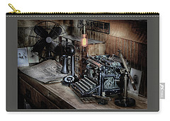 Carry-all Pouch featuring the photograph Typewriter Manifesto  by Jeffrey Jensen