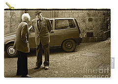 Typical Italian Street Scene In Sepia Carry-all Pouch