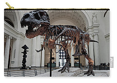 Carry-all Pouch featuring the digital art Tyrannosaurus Rex Sue - Chicago by Daniel Hagerman
