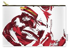 Carry-all Pouch featuring the mixed media Tyreek Hill Kansas City Chiefs Pixel Art 1 by Joe Hamilton