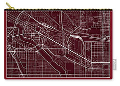 U Of M Street Map - University Of Minnesota Minneapolis Map Carry-all Pouch