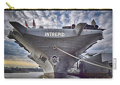 U S S   Intrepid's Bow  Carry-all Pouch