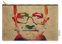 U2 Bono Watercolor Portrait Carry-all Pouch