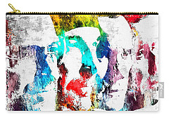 U2 Grunge Carry-all Pouch by Daniel Janda