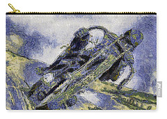 Carry-all Pouch featuring the painting Ubiquitous Harley-davidson Cult by Maciek Froncisz
