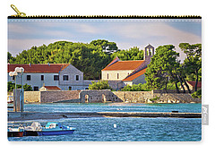 Ugljan Island Village Old Church And Beach View Carry-all Pouch