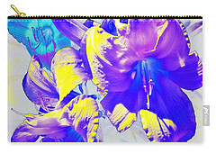 Carry-all Pouch featuring the photograph Ultraviolet Daylilies by Shawna Rowe