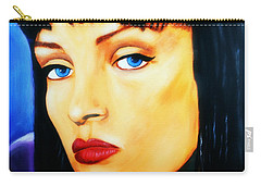 Uma Thurman In Pulp Fiction Carry-all Pouch