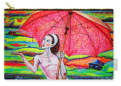 Umbrella.girl Carry-all Pouch by Viktor Lazarev