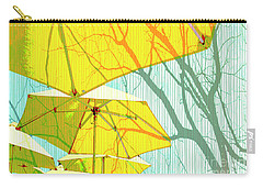 Umbrellas Yellow Carry-all Pouch by Deborah Nakano