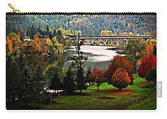 Umpqua Bridge In The Fall Carry-all Pouch by Katie Wing Vigil