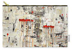 Carry-all Pouch featuring the painting Un Pour Tous by Carmen Guedez
