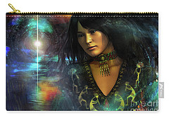 Carry-all Pouch featuring the digital art Una   ...   Remember by Shadowlea Is
