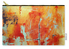 Carry-all Pouch featuring the painting Uncharted Destination by M Diane Bonaparte