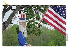 Carry-all Pouch featuring the photograph Uncle Sam Patriotic Flag by Betty Denise