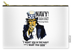 Uncle Sam Wants You In The Navy Carry-all Pouch