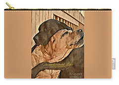 Carry-all Pouch featuring the digital art Unconditional Love by Kathy Tarochione