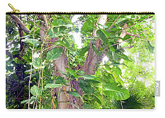 Carry-all Pouch featuring the photograph Under A Tropical Tree With Vines by Francesca Mackenney