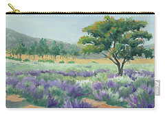 Under Blue Skies In Lavender Fields Carry-all Pouch