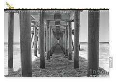 Carry-all Pouch featuring the photograph Under Huntington Beach Pier by Ana V Ramirez