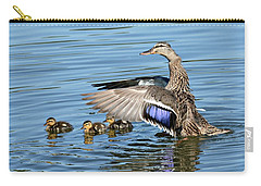 Under My Wings Carry-all Pouch by Fraida Gutovich