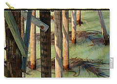 Carry-all Pouch featuring the photograph Under San Simeon Pier by Art Block Collections