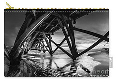 Under Sea Cabin Pier At Sunset Carry-all Pouch