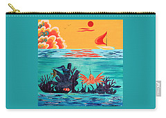 Bright Coral Reef Carry-all Pouch