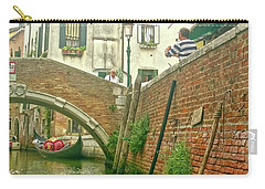 Carry-all Pouch featuring the photograph Under The Bridge by Anne Kotan