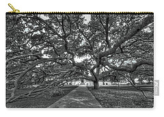 Under The Century Tree - Black And White Carry-all Pouch
