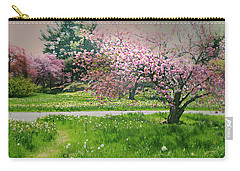 Carry-all Pouch featuring the photograph Under The Cherry Tree by Diana Angstadt