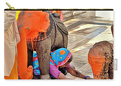 Under The Elephant - Narmada Temple At Arkantak India Carry-all Pouch