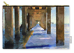 Under The Galvaston Pier Carry-all Pouch by Cedric Hampton