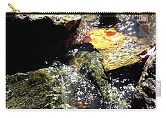 Carry-all Pouch featuring the photograph Under The Glass Of Water by Robert Knight